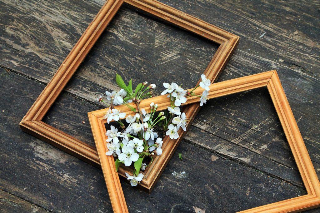 ramki na zdjęcia z kwiatami