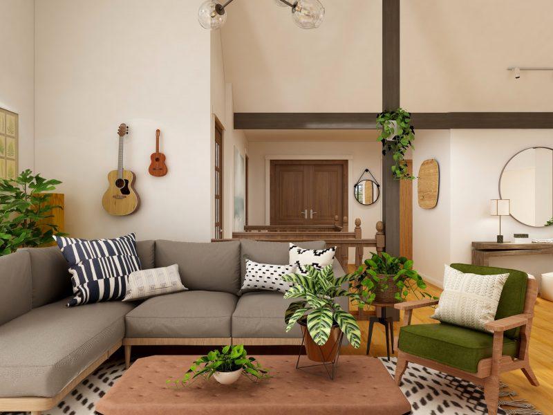 Salon w stylu eklektycznym – zasady kompozycji