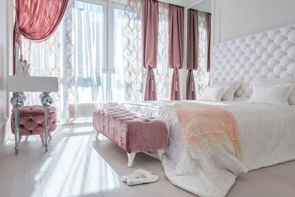 Dodatki do sypialni w stylu glamour